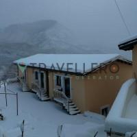 Borgo Donna Teresa peisaj de iarnă