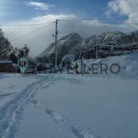 Borgo Donna Teresa intrare cu zăpadă